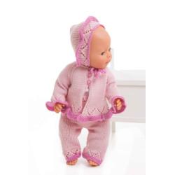 Jakke, bukser og hue - Viking Design 1405-2 Kit - Babyborn 42 cm - Viking Baby Ull