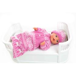 Kørepose - Viking Design 1405-3 Kit - Babyborn 42 cm - Viking Baby Ull