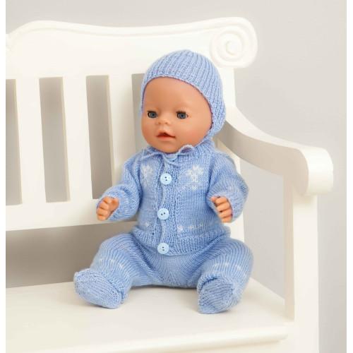 Jakke, selebukser, sokker og hue - Viking Design 1405-4 Kit - Babyborn 42 cm - Viking Baby Ull
