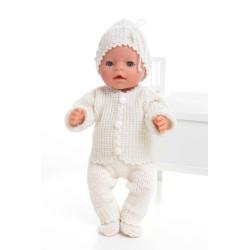Jakke, bukser, hue og sokker - Viking Design 1405-6 Kit - Babyborn 42 cm - Viking Baby Ull