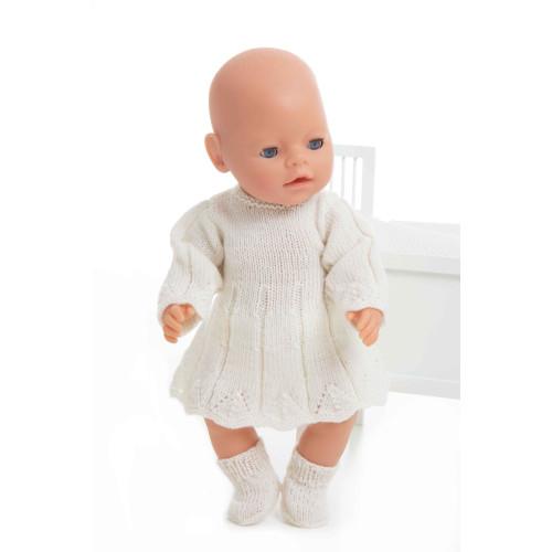 Kjole og sokker - Viking Design 1405-9 Kit - Babyborn 42 cm - Viking Baby Ull
