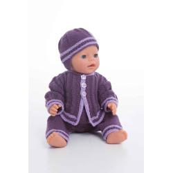 Jakke, hue og selebukser - Viking Design 1405-10 Kit - Babyborn 42cm - Viking Baby Ull