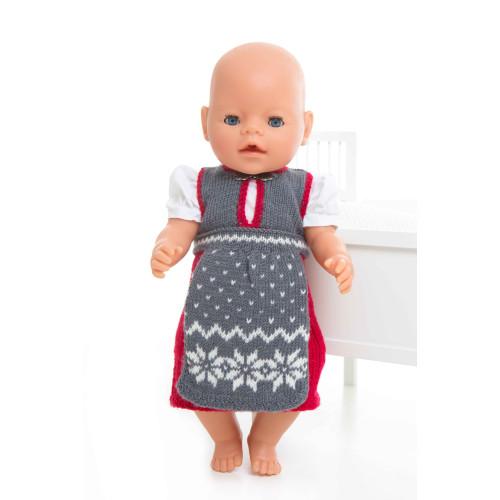Bunad - Viking Design 1405-12 Kit - Babyborn 42 cm - Viking Baby Ull