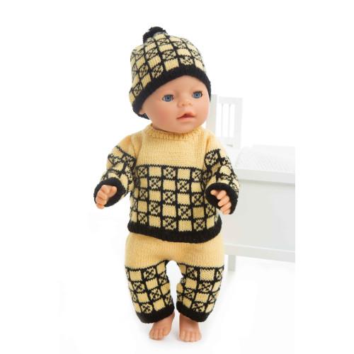 Genser, hue og bukser - Viking Design 1405-13 Kit - Babyborn 42 cm - Viking Baby Ull