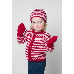 Jakke, hue, og vanter - Viking Design 1404-1 Kit - 1 Mnd.-4 År - Viking Baby Ull