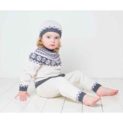 Genser, bukser og hue - Viking Design 1404-8 Kit - 3 Mdr.-4 År - Viking Baby Ull