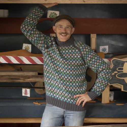 """""""Oppfinner"""" Genseren - Viking Design 2020-2C Kit - XXS-XXXL - Viking Eco Highland Wool"""