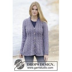 Image of   Blossom lane by drops design s-xxxl drops karisma garn cardigan