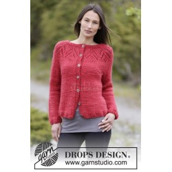 Warm Autumn Cardigan by DROPS Design S-XXXL DROPS ESKIMO