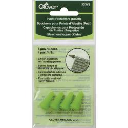 Clover maskestopper i gummi, lille, 2 sæt, til pinde 2-4,5mm