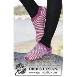 Image of   Candy cane by drops design 35-42 drops nepal garn strikkekits