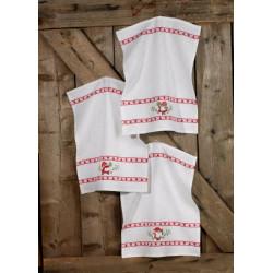 Gæstehåndklæder, jul, 3 stk i pk, 40 cm x 50 cm