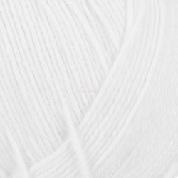 Viking Heklegarn 12/4. Farve 800 Hvid