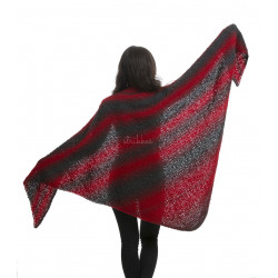Viking Pleddgarn. Farve 750 Rød/sort