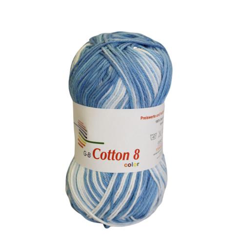 Cotton 8 color. Farve 007, Lyseblå toner