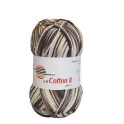 Cotton 8 color. Farve 002, beige-brune toner
