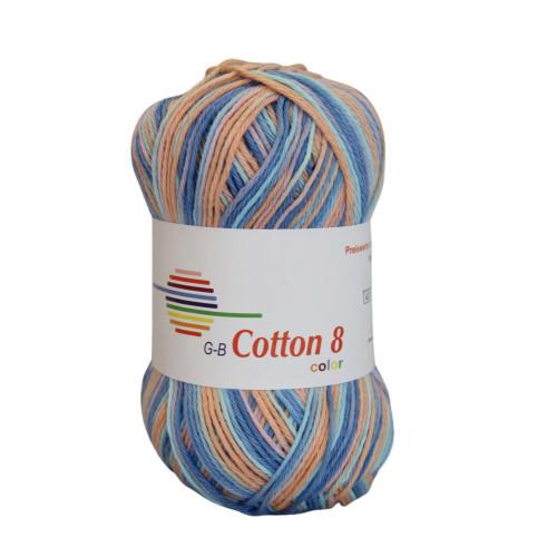 Cotton 8 color. Farve 004, lilla-blå-laks toner