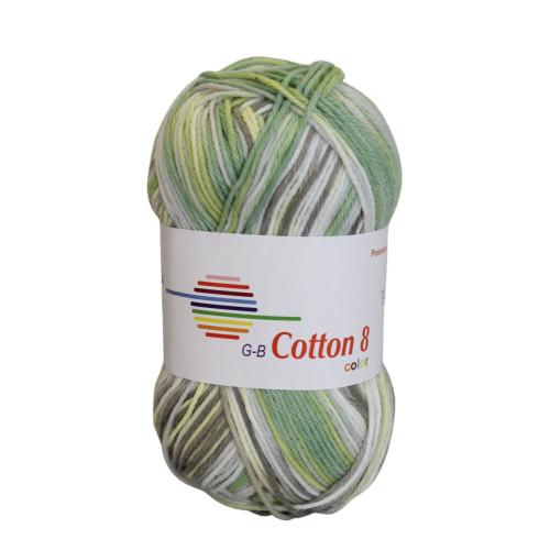 Cotton 8 color. Farve 005, grønne toner