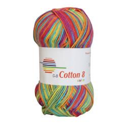 Cotton 8 color. Farve 006, regnbue