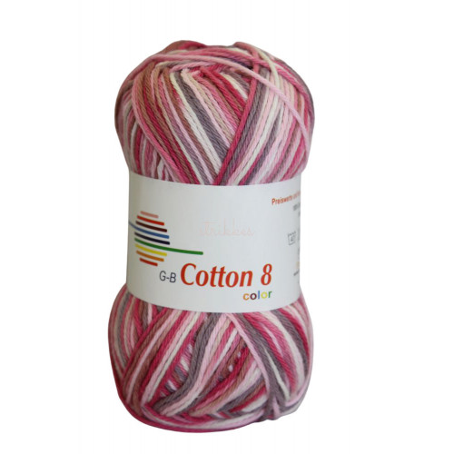 Cotton 8 color. Farve 009, lyserøde toner