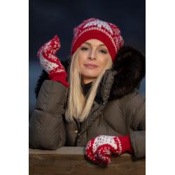 """""""Vinternatt"""" Hue og vanter - Viking Design 2032-11 Kit - Barn + Dame - Viking Alpaca Storm"""