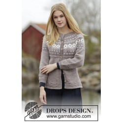 Image of   English afternoon cardigan by drops design s-xxxl drops karisma garn