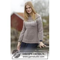 Image of   English afternoon by drops design s-xxxl drops karisma garn bluse