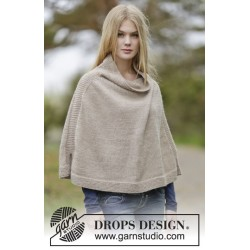 Image of   Bonfire snuggle by drops design s-xxxl drops nepal garn poncho