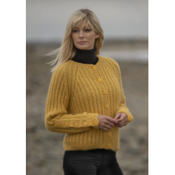 """Sørland"" Kort jakke - Viking Design 2036-9 Kit - XS-XL - Viking Alpaca Bris"
