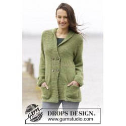 Autumn Forest Jacket by DROPS Design S-XXXL DROPS AIR