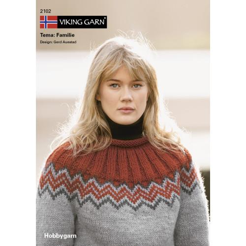 Viking katalog 2102 - Familie, Viking Hobbygarn