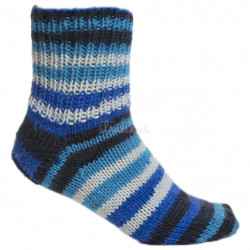 Viking Raggen. Farve 729, Multi blå/hvid
