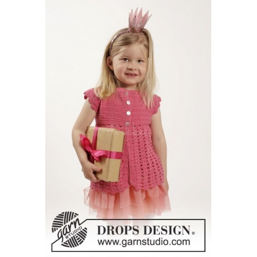 Lovely Rose by DROPS Design 12 mdr - 10 år DROPS COTTON MERINO