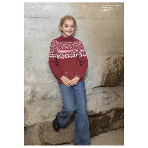 """Setesdal"" Genser, model ""Raya"" - Viking Design 2106-6A Kit - 2-12 År - Viking Merino"