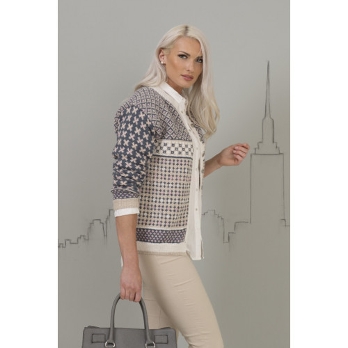 """Mara"" Kofte - Viking Design 1701-3 Kit - XS-XXL - Viking Alpaca Fine"
