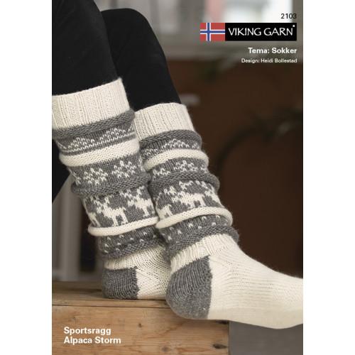 GRATIS Viking katalog 2103 - Sokker, Viking Sportsragg og Alpaca Storm UDEN OPSKRIFTER