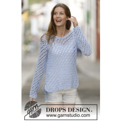 Image of   Just me by drops design s-xxxl drops cotton light garn bluse