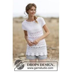 Lacey days by drops design s-xxxl drops cotton merino garn top
