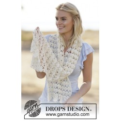 Image of   Mary jo by drops design one-size drops cotton light garn sjal