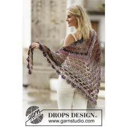 Image of   Evening breath by drops design one-size drops delight garn sjal