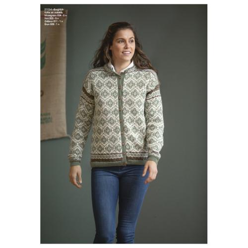 """""""Borghild"""" Kofte - Viking Design 2112-4 Kit - XS-XXXL - Viking Alpaca Fine"""