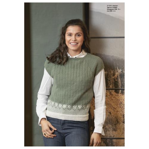 """Jessica"" Vest - Viking Design 2112-5 Kit - XS-XL - Viking Alpaca Fine"