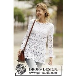 Image of   Lacey days jumper by drops design s-xxxl drops cotton light garn bluse
