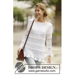 Lacey Days Jumper by DROPS Design S-XXXL DROPS COTTON LIGHT