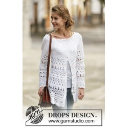 Lacey Days Jacket by DROPS Design S-XXXL DROPS COTTON LIGHT