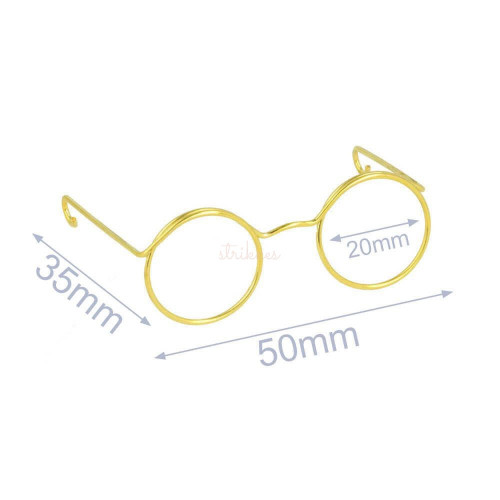 5 stk briller i guld, til nisser