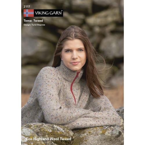 Viking katalog 2117 - Damer og Herrer, Viking Eco Highland Uld Tweed