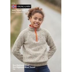 GRATIS Viking katalog 2118 - Børn, Viking Eco Highland Uld og Eco Highland Uld Tweed UDEN OPSKRIFTER