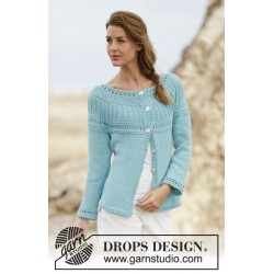 Image of   Athena cardigan by drops design s-xxxl drops paris garn strikkekits