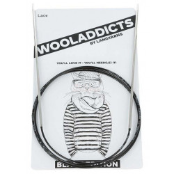 AddiLace rundpind, BLACK EDITION, 2,5mm, 50 cm